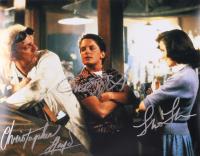 """Michael J. Fox, Christopher Lloyd, & Lea Thompson Signed """"Back to The Future"""" 11x14 Photo (AutographCOA LOA) at PristineAuction.com"""