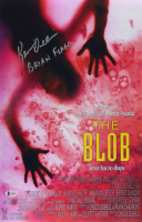 """Kevin Dillon Signed """"The Blob"""" 11x17 Movie Poster Inscribed """"Brian Flagg"""" (Beckett COA) at PristineAuction.com"""