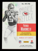 Patrick Mahomes 2017 Absolute Rookie Reflex Signatures #35 RC #71/100 at PristineAuction.com
