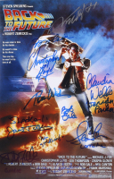 """""""Back to The Future"""" 12x18 Photo Signed By (10) With Michael J. Fox, Christopher Lloyd, Lea Thompson, Tom Wilson, Claudia Wells, Donald Fullilove With Inscriptions (AutographCOA COA) at PristineAuction.com"""