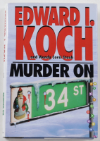 """Ed Koch Signed """"Murder on 34th Street"""" Hard Cover Book (PSA COA) at PristineAuction.com"""