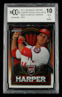 Bryce Harper 2011 Bowman Chrome Bryce Harper Retail Exclusive #BCE1R Red (BCCG 10) at PristineAuction.com