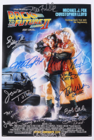 """""""Back to The Future II"""" 12x18 Photo Signed By (12) With Michael J. Fox, Christopher Lloyd, Lea Thompson, Tom Wilson, James Tolkan, Donald Fullilove With Inscriptions (AutographCOA COA) at PristineAuction.com"""