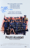 """Leslie Easterbrook& Michael Winslow Signed """"Police Academy"""" 11x17 Photo Inscribed """"Love From Sgt. Debbie Callahan"""" & """"Jones"""" (Beckett COA) at PristineAuction.com"""