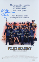 """Leslie Easterbrook& Michael Winslow Signed """"Police Academy"""" 11x17 Photo Inscribed """"Love From"""" """"Sgt. Callahan"""" & """"Jones"""" (Beckett COA) at PristineAuction.com"""