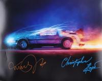 "Michael J. Fox & Christopher Lloyd Signed ""Back to The Future"" 16x20 Photo (AutographCOA LOA) at PristineAuction.com"