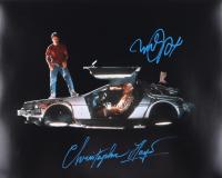 "Michael J. Fox & Christopher Lloyd Signed ""Back to The Future"" 16x20 Photo (AutographCOA COA) at PristineAuction.com"