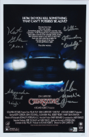 """""""Christine"""" 11x17 Print Signed by (4) With Alexandra Paul, William Ostrander, Malcolm Danare, & Keith Gordon With Multiple Inscriptions (Beckett Hologram) at PristineAuction.com"""