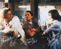 """Michael J. Fox, Christopher Lloyd, & Lea Thompson Signed """"Back to The Future"""" 16x20 Photo (AutographCOA LOA) at PristineAuction.com"""