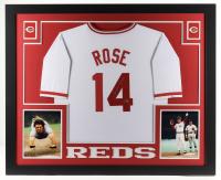 Pete Rose Signed 35x43 Custom Framed Jersey Display (Rose Hologram) at PristineAuction.com