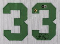 Larry Bird Signed 35x43 Custom Framed Jersey Display (Beckett Hologram & Bird Hologram) at PristineAuction.com
