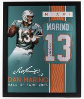 Dan Marino Signed 35x43 Custom Framed Jersey (JSA Hologram) (See Description) at PristineAuction.com