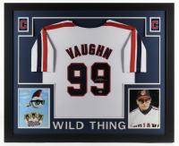 Charlie Sheen Signed 35x43 Custom Framed Jersey Display (Beckett Hologram) at PristineAuction.com