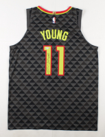 Trae Young Signed Hawks Jersey (PSA Hologram) at PristineAuction.com