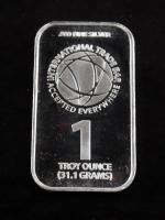 1 Oz .999 Fine Silver International Trade Silver Bullion Bar at PristineAuction.com