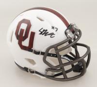 Spencer Rattler Signed Oklahoma Sooners Speed Mini Helmet {PSA COA) at PristineAuction.com