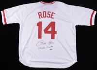 "Pete Rose Signed Jersey Inscribed ""Charlie Hustle"" (Fiterman Sports Hologram) (See Description) at PristineAuction.com"
