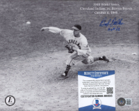 "Bob Feller Signed Indians 8x10 Photo Inscribed ""HOF '62"" (Beckett COA) at PristineAuction.com"