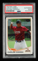 Carlos Correa Signed 2013 Topps Pro Debut #4 (PSA Encapsulated) at PristineAuction.com