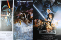 """Set of (3) Star Wars 27x40 Movie Posters with """"Star Wars"""", """"Star Wars: The Empire Strikes Back"""" & """"Star Wars: Return Of The Jedi"""" at PristineAuction.com"""