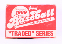 1989 Topps Traded Series Baseball Card Box with (132) Cards with #40T Ken Griffey, #102T Randy Ready, #60T Paul Kilgus, #34T Julio Franco (See Description) at PristineAuction.com