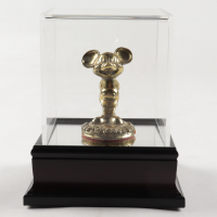 """Disney World Brass """"Mickey Mouse"""" Souvenir with Display Case at PristineAuction.com"""