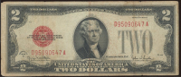 1928-G $2 Two-Dollar Red Seal United States Legal Tender Bank Note at PristineAuction.com