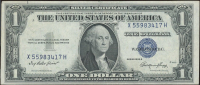 1935-E $1 One Dollar U.S. National Currency Blue Seal Bank Note at PristineAuction.com