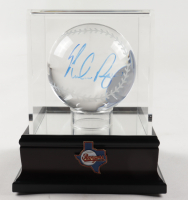 Nolan Ryan Signed Lead Crystal Baseball with Display Case (PSA COA) at PristineAuction.com