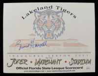 Ernie Harwell Signed 2003 Lakeland Tigers Official Scorecard (JSA COA) at PristineAuction.com