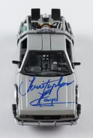 """Christopher Lloyd Signed """"Back to the Future II"""" DeLorean Time Machine 1:24 Scale Die-Cast Car With Original Packaging (Beckett COA) (See Description) at PristineAuction.com"""