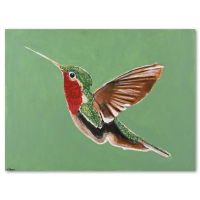 "David Ashouri Signed ""Love Bird"" 40x30 Original Acrylic Painting on Canvas at PristineAuction.com"