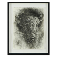 Vincent Cacciotti Signed 24x30 Custom Framed Original Charcoal Drawing at PristineAuction.com