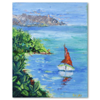 """Elliot Fallas Signed """"Hideaway Cove"""" 16x20 Original Oil Painting on Canvas at PristineAuction.com"""