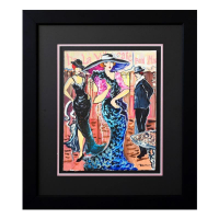 """Patricia Govezensky Signed """"Best Show in Town"""" 24x21 Custom Framed Original Watercolor at PristineAuction.com"""