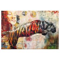 "John & Elli Milan Signed ""Untitled II"" 24x36 Original Painting at PristineAuction.com"