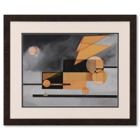 Neal Doty Signed 26x22 Custom Framed Original Painting Dated 1975 at PristineAuction.com