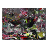 """Tom Pergola Signed """"The Storm"""" 40x30 Original Acrylic Painting on Gallery Wrapped Canvas at PristineAuction.com"""
