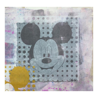 """Gail Rodgers Signed """"Mickey Mouse"""" 23x23 Original Hand Pulled Silkscreen Mixed Media on Canvas at PristineAuction.com"""