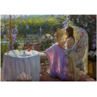 """Vicente Romero Signed """"A Quiet Afternoon"""" Limited Edition 19x28 Giclee on Canvas at PristineAuction.com"""