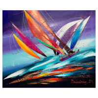 Natalia Sinkovsky Signed 20x24 Original Acrylic Painting on Canvas at PristineAuction.com