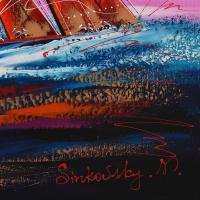 Natalia Sinkovsky Signed 48x20 Original Acrylic Painting on Canvas at PristineAuction.com