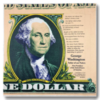 """Steve Kaufman Signed """"George Washington, Father of Our Nation"""" Limited Edition 26x26 Hand Pulled Silkscreen Mixed Media on Canvas at PristineAuction.com"""