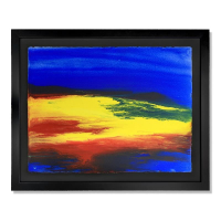 """Wyland Signed """"Untitled"""" 30x37 Custom Framed Original Watercolor Painting at PristineAuction.com"""