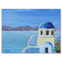 """Elliot Fallas Signed """"Grecian Beauty"""" 16x12 Original Oil Painting on Canvas at PristineAuction.com"""
