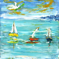"""Elliot Fallas Signed """"Ode to Matisse"""" 21x21 Original Oil Painting on Canvas at PristineAuction.com"""