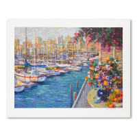 "Henri Plisson Signed ""Mediterranean Sunrise"" Limited Edition 38x30 Serigraph at PristineAuction.com"