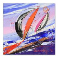Natalia Sinkovsky Signed 9x9 Original Acrylic Painting on Canvas at PristineAuction.com