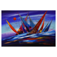 Natalia Sinkovsky Signed 30x20 Original Acrylic Painting on Canvas at PristineAuction.com