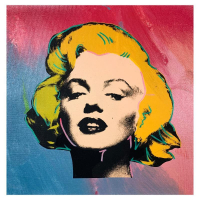 """Steve Kaufman Signed """"Marilyn Monroe"""" Limited Edition 17x17 Hand Pulled Silkscreen Mixed Media on Canvas at PristineAuction.com"""